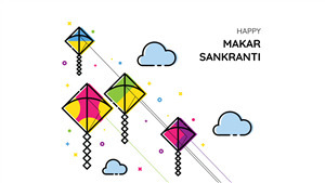 Indian Kites Festival Happy Makar Sankranti