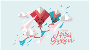 Wallpaper of Festival Happy Makar Sankranti