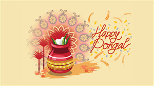 Wish You Happy Thai Pongal Wallpaper