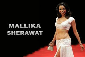 Mallika Sherawat on Ramp With White Dress