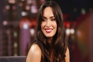 Cute Smile of Megan Fox in Red Lips