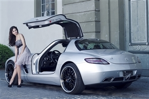 Beautiful Mercedes Benz SLS AMG Car