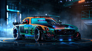 Mercedes Colorful 4K Customize Car