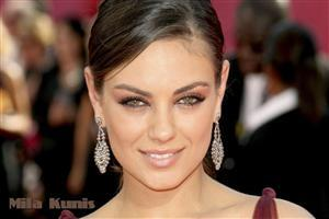 Sexy Face of Mila Kunis Hollywood Actress