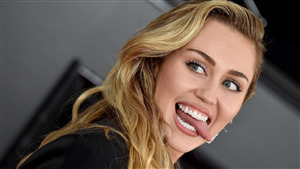 American Celebrity Miley Cyrus 4K Wallpaper