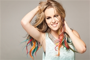 Beautiful Bridgit Mendler American Singer Songwriter in Colorful Hairstyle HD Photos