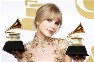 Beautiful Taylor Swift with Awards Wallpaper