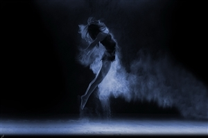 Dancing Girl in Dark High Resolution Image