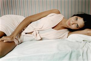 Model on Bed Adriana Lima
