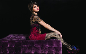 Selena Gomez in Partyware Clothes Wide Wallpaper
