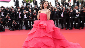 Sririta Jensen With Beautiful Dress in Cannes Film Festival 4K Wallpaper