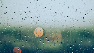 Blur Glass Effect on Rain HD Photo