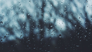 Rain Drops in Window Glass 5K Image