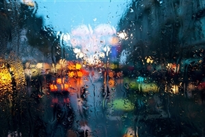 Rain on Glass Photo