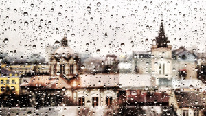 Window with Rainy Drops Monsoon Season HD Wallpapers