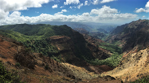 Mountains of Waimea Canyon State Park in Hawaii Photo