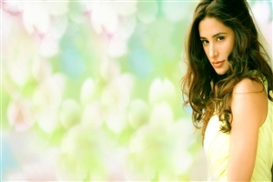 Beautiful New Famous Bollywood Actress Nargis Fakhri in Yellow Dress Wallpapers