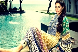 Bollywood Actress Nargis Fakhri in Colorful Dress HD Wallpapers