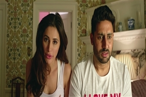 Nargis Fakhri and Abhishek Bachchan in Bollywood Film Housefull 3 Wallpaper