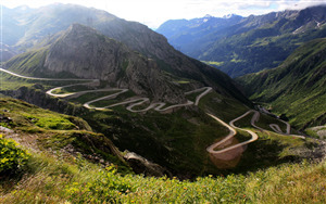 Beautiful Gotthard Pass Nature View in Switzerland Wallpapers