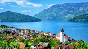 Lake Lucerne Beautiful View in Switzerland Country 4K Wallpapers
