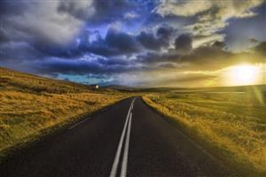 Nature Sunrise Road View HD Wallpapers
