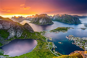 Nature View of Lofoten in Norway Country Wallpaper