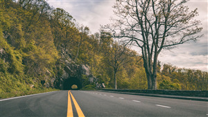 Nature View of Skyline Drive Road in Virginia US Wallpaper