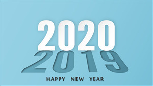 2020 Happy New Year 5K Wallpaper