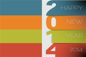 Amazing Beautiful 2014 New Year Holiday Greetings Wallpaper