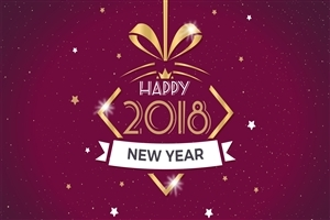Beautiful HD Wallpaper of New Year 2018