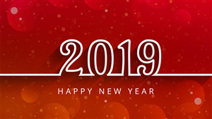 Beautiful New Year 2019 Red HD Wallpaper