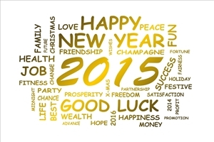 Beautiful Super New Year 2015 Greeting HD Wallpapers