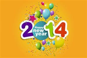 HD 2014 Happy New Year Celebration Wallpapers