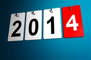 Happy New Year 2014 Calender Type Image