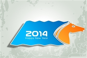 Happy New Year 2014 Photos in Horse Theme