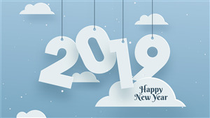 Happy New Year 2019 Cloud Background Images