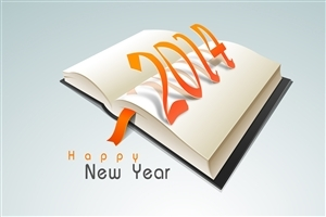 Nice Happy New Year 2014 Quote on Book Wallpaper