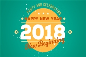 Party and Celebration New Year 2018 Wallpaper
