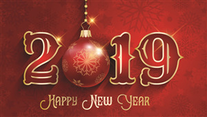 4K Wallpaper of New Year Background 2019  HD Wallpapers