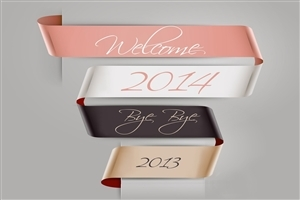 Welcome Happy New Year 2014 and Bye Bye 2013 Wallpaper