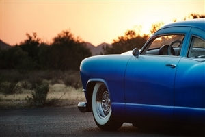 Blue Old Car HD Wallpaper