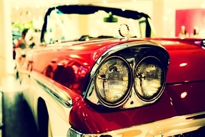 Red Vintage Car Wallpaper