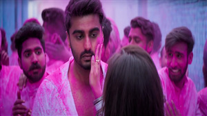 Arjun Kapoor Playing Holi in Movie Namaste England