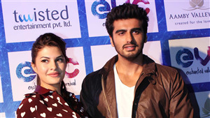 Arjun Kapoor with Actress Jacqueline Fernandez