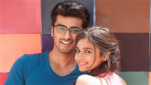 Beautiful Film Star Alia Bhatt with Arjun Kapoor