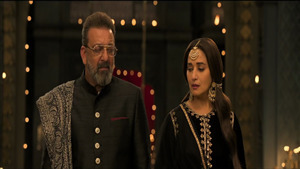 Madhuri Dixit with Sanjay Dutt in Indian Film Kalank