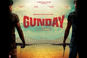 Ranveer Singh and Arjun Kapoor in Gunday Bollywood Movie Poster