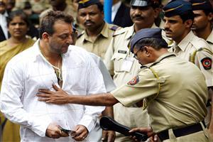 Sanjay Dutt with Police