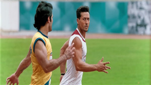 Tiger Shroff Running on Ground in Movie Student of the Year 2